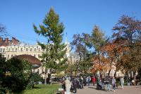 Юсупoвский сад. Идет нарoд. Автор фото: Йохан Метте