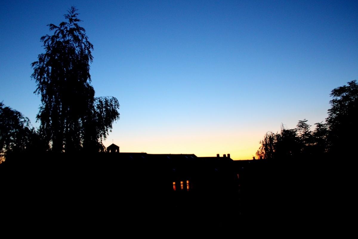 Вечернее небо. Синь. Автор фото: Йохан Метте
