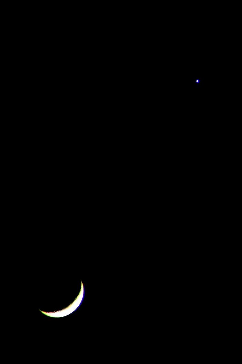 Луна и Венера. Осенняя ночь. Автор фото: Йохан Метте