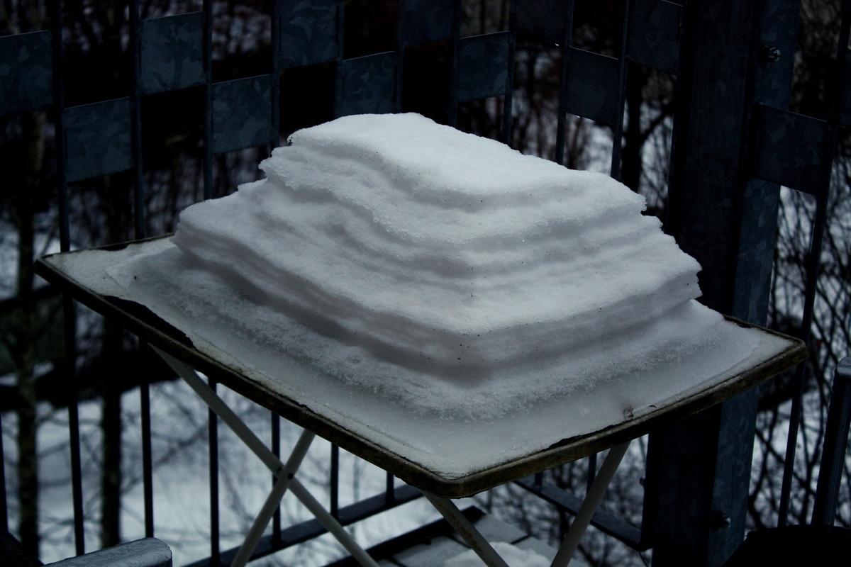 Прослойка снега во время оттепели. Автор фото: Йохан Метте