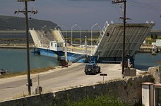 Разведение моста. Вид из крепости.
