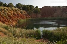 Бокситовое озеро. Вид с восточного берега.