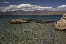 Галаксиди. Вид на остров Agios Georgios.