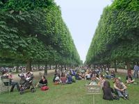 В жаркий день в Люксембургском саду Парижа