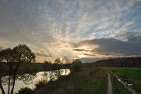 Осенний закат на Протве